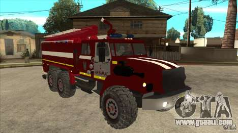 Ural 43206 firefighter for GTA San Andreas back view