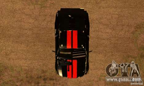 Ford Mustang Shelby GT500 From Death Race Script for GTA San Andreas right view