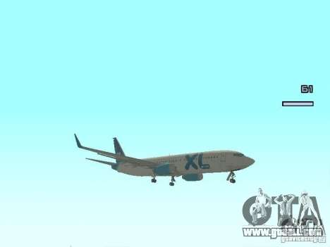 XL Airways 737-800 for GTA San Andreas left view