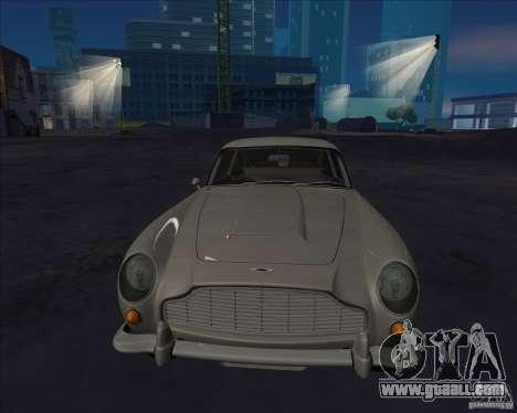 Aston Martin DB5 for GTA San Andreas