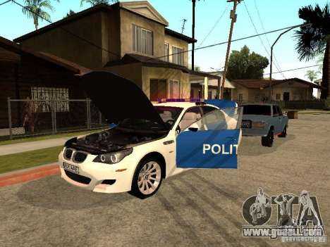 BMW 5-er Police for GTA San Andreas side view