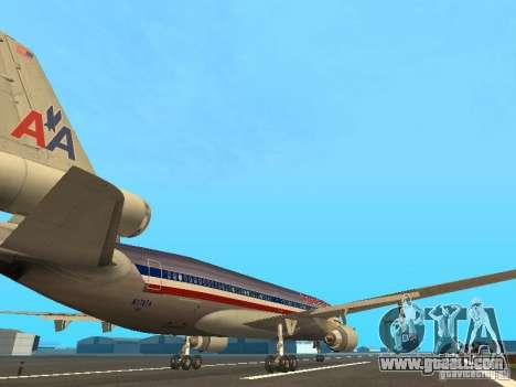 McDonell Douglas MD11 American Airlines for GTA San Andreas right view