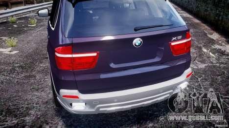 BMW X5 xDrive 4.8i 2009 v1.1 for GTA 4 upper view