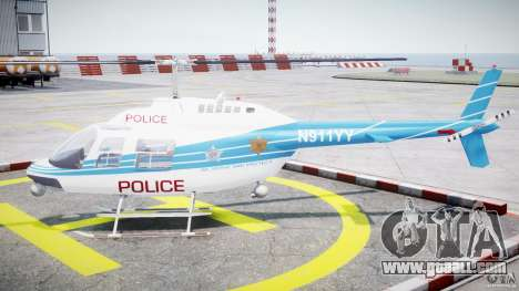 Bell 206 B - Chicago Police Helicopter for GTA 4 left view