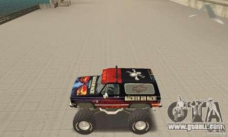 Chevrolet Blazer K5 Monster Skin 5 for GTA San Andreas