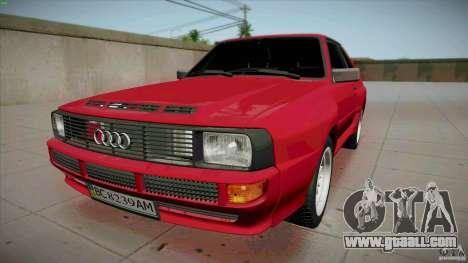 Audi Sport quattro 1983 for GTA San Andreas
