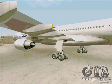 Airbus A-340-600 for GTA San Andreas back view