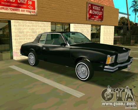 Chevrolet Monte Carlo 1979 for GTA San Andreas left view