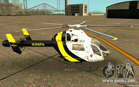 MD 902 Explorer for GTA San Andreas left view