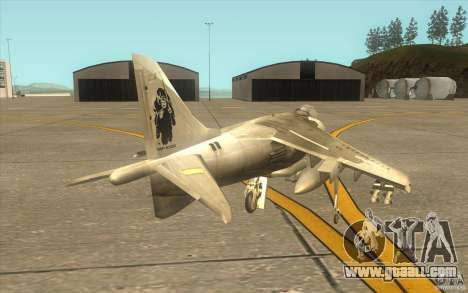 Harrier GR7 for GTA San Andreas right view