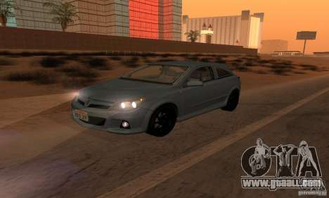 Opel Astra GTS for GTA San Andreas bottom view