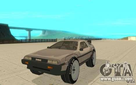 DeLorean DMC-12 (BTTF1) for GTA San Andreas