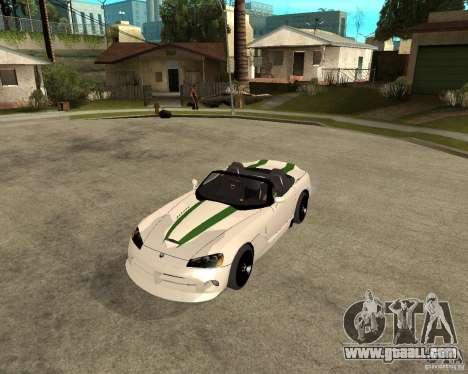 Dodge Viper SRT-10 for GTA San Andreas