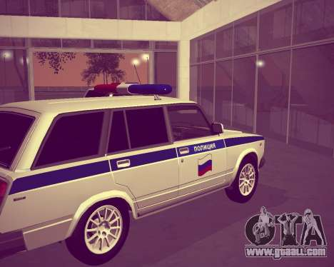 VAZ 21047 Police for GTA San Andreas back left view