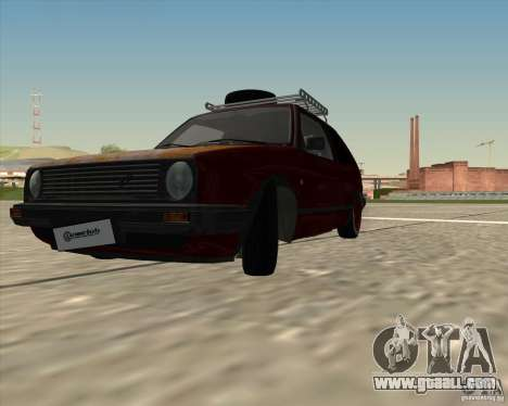 VW Golf II Shadow Crew for GTA San Andreas back left view