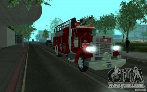 Peterbilt 379 Fire Truck ver.1.0 for GTA San Andreas back left view