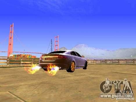Jaguar XFR 2011 for GTA San Andreas back view