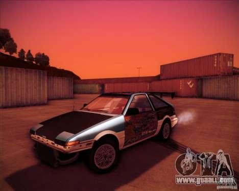 Toyota Corolla AE86 StreetAttack for GTA San Andreas