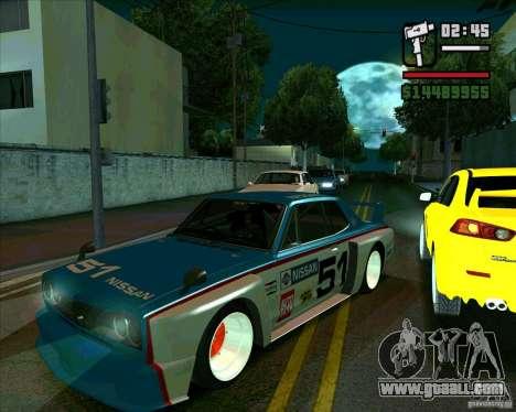 Nissan Skyline 2000gtr for GTA San Andreas