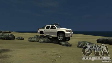Chevrolet Avalanche 4x4 Truck for GTA 4 left view