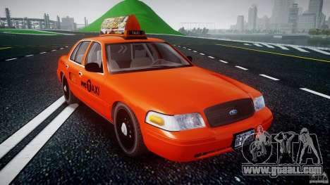 Ford Crown Victoria 2003 v.2 Taxi for GTA 4 back view