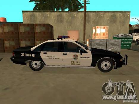 Chevrolet Caprice Police for GTA San Andreas back left view