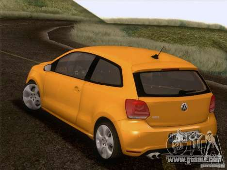 Volkswagen Polo GTI 2011 for GTA San Andreas bottom view