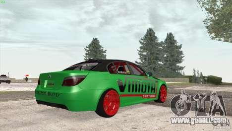 BMW M5 E60 Darius Balys for GTA San Andreas back view
