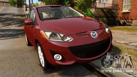 Mazda 2 2011 for GTA 4