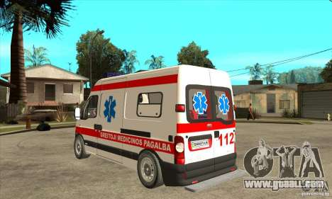 Renault Master Ambulance for GTA San Andreas back left view