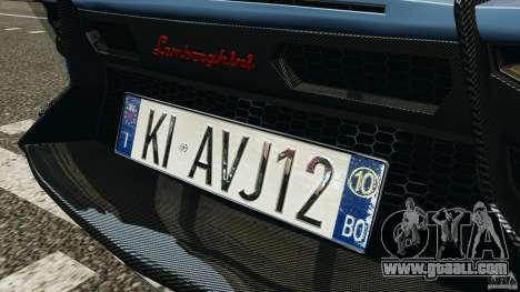 Lamborghini Aventador J 2012 for GTA 4 engine