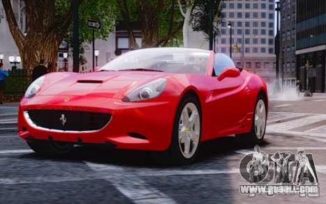 Ferrari California for GTA 4 back left view