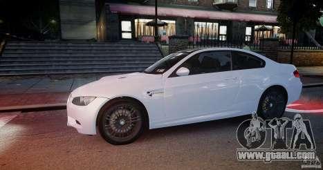 BMW M3 E92 2008 v.2.0 for GTA 4 back view