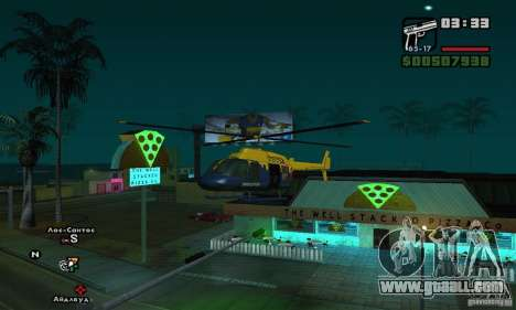 Helitours Maverick from GTA 4 for GTA San Andreas left view