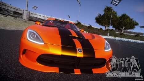 Dodge Viper GTS 2013 v1.0 for GTA 4 back view