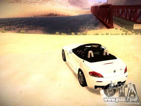 BMW Z4 sDrive28i 2012 for GTA San Andreas back left view