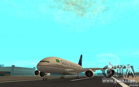 Airbus A380 - 800 for GTA San Andreas left view