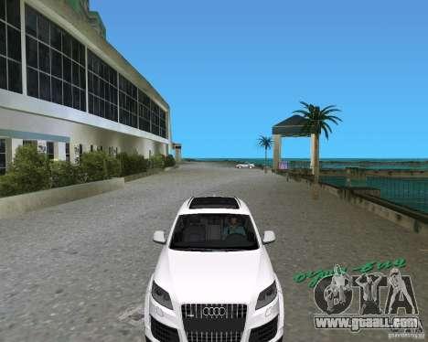 Audi Q7 v12 for GTA Vice City back left view