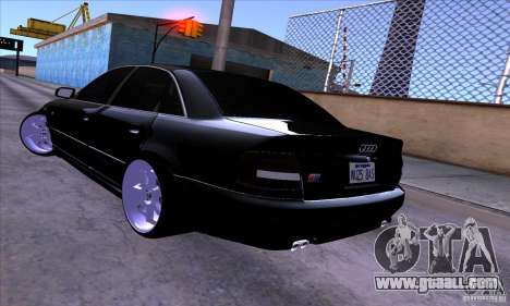 Audi S4 Light Tuning for GTA San Andreas upper view