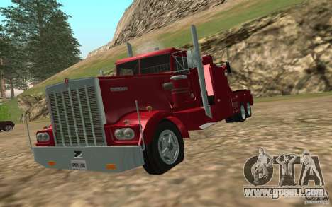 Kenworth Towtruck for GTA San Andreas back view