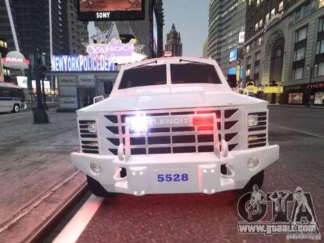 Lenco Bearcat NYPD ESU V.2 for GTA 4 left view