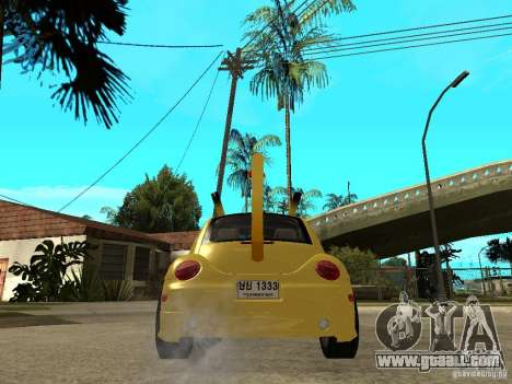 Volkswagen Beetle Pokemon for GTA San Andreas back left view