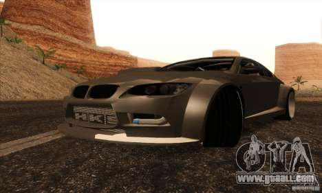 BMW M3 E92 Tuned v2 for GTA San Andreas back left view