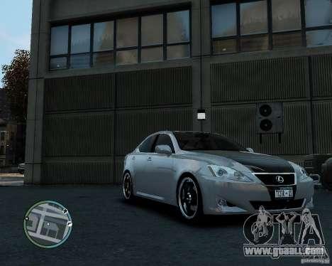 Lexus IS350 2006 v.1.0 for GTA 4 back left view
