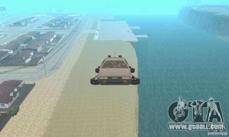 DeLorean DMC-12 (BTTF2) Flying for GTA San Andreas right view