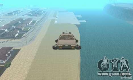 DeLorean DMC-12 (BTTF2) Flying for GTA San Andreas right view