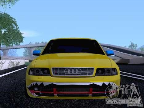 Audi S4 DatShark 2000 for GTA San Andreas back view