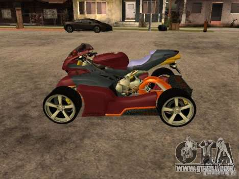 Quad MVAgusta for GTA San Andreas left view