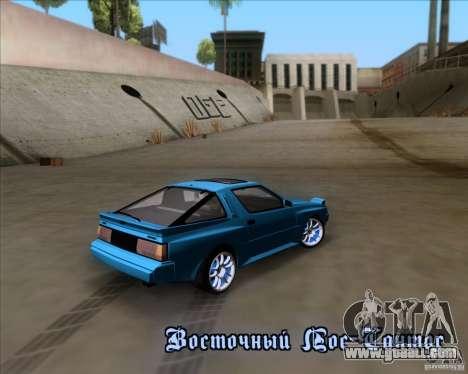 Mitsubishi Starion for GTA San Andreas upper view