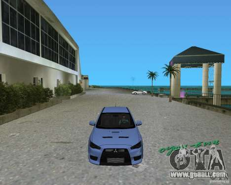 Mitsubishi Lancer Evo X for GTA Vice City left view